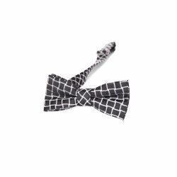 Bow Tie Black/Silver Diamond