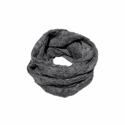 Cable Infinity Scarf- Medium Grey