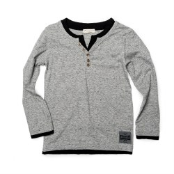 Camden LS Tee Speckle Grey 4