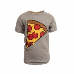 Pizza Slice Tee Grey 7