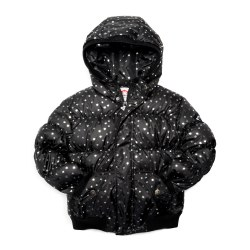 Puffy Coat Silver Hearts 8