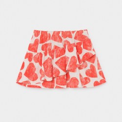 Hearts Ruffles Skirt 6/7Y