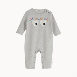 Abstract Playsuit Eyes 3-6M