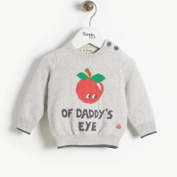 Apple Knit Baby Sweater 6-12M