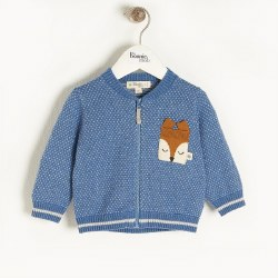 Ash Fox Cardigan Blue 12-18M