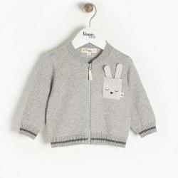 Ash Bunny Cardigan Grey 3-6M