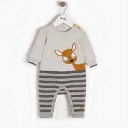 Bambi Knit Romper 0-3M
