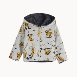 Brill Lined Hoodie Cats 3-6M