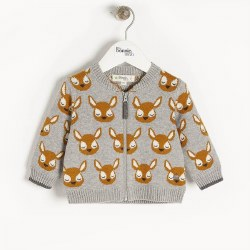 Burdock Deer Cardigan 6-12M