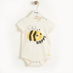 Cabo Onesie Bee Happy 0-3M