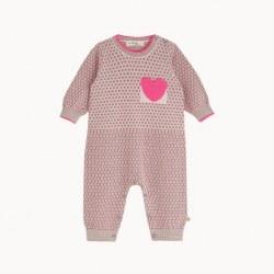 Marlon Knit Romper Pink 6-12M