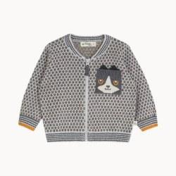 Mick Knit Cardi Grey 3-6M