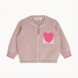 Mick Knit Cardi Pink 12-18M