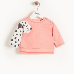 Mustique Sweatshirt Peach Leopard 6-12M