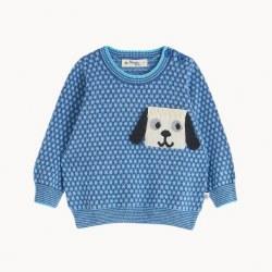 Paris Knit Sweater Blue 12-18M