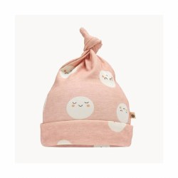 Snowmoon Baby Hat Pink 0-6M