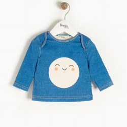 Space Baby LS Tee Denim 12-18M