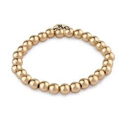 Gold Bead Bracelet 6MM