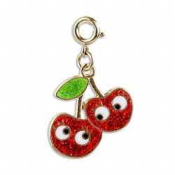 Gold Cherry Friends Charm
