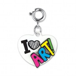 I Love Art! Heart Charm