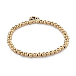 Gold Bead Bracelet 4MM