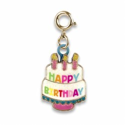 Gold Birthday Cake Charm