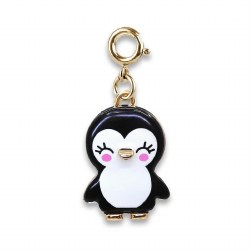 Gold Penguin Charm