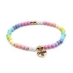 Pastel Bead Bracelet 4MM
