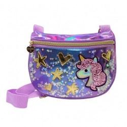 Purple Unicorn Crossbody Bag