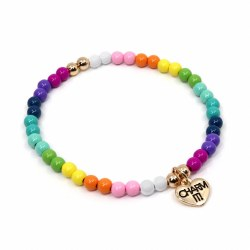 Rainbow Bead Bracelet 4MM