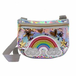 Silver Rainbow Crossbody Bag