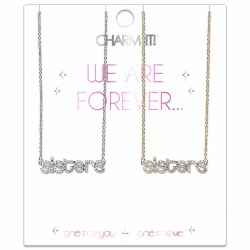 Sisters Rhinestone Necklace Set