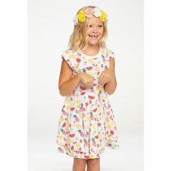 Fruity Flutter Sleeve Dress 2