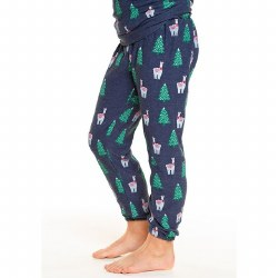 Holiday Llama Cozy Pants 8