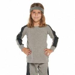 Paneled Raglan Pullover Gry 2
