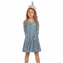 Peacock LS Waisted Dress 3