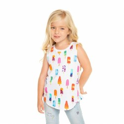 Popsicles Muscle Tank White 2