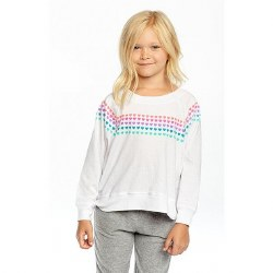 Rainbow Hearts Crop Raglan 3