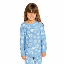 Snowflake Cozy Pullover Blu 2