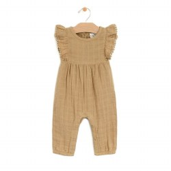 Frill Long Romper Curry 0-3M