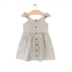 Stripe Cross Back Dress 18-24M