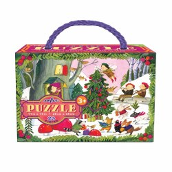 Christmas in the Woods 20-Piece Glitter Puzzle