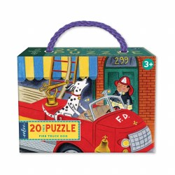 Fire Truck Dog 20-Piece Puzzle