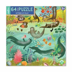 Otters at Play 64-Piece Puzzle