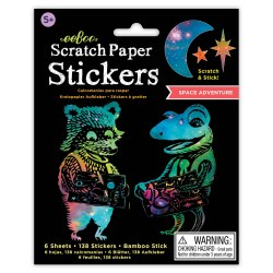 Scratch Paper Stickers Space