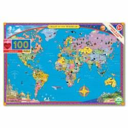 World Map 100-Piece Puzzle