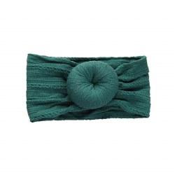 Headband Cable Bun Emerald