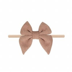 Headband Cotton Bow Champagne