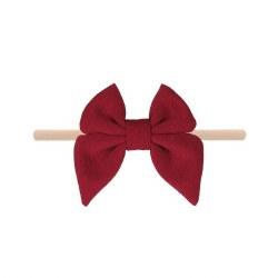 Headband Cotton Bow Merlot