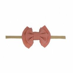 Headband Waffle Bow Rose